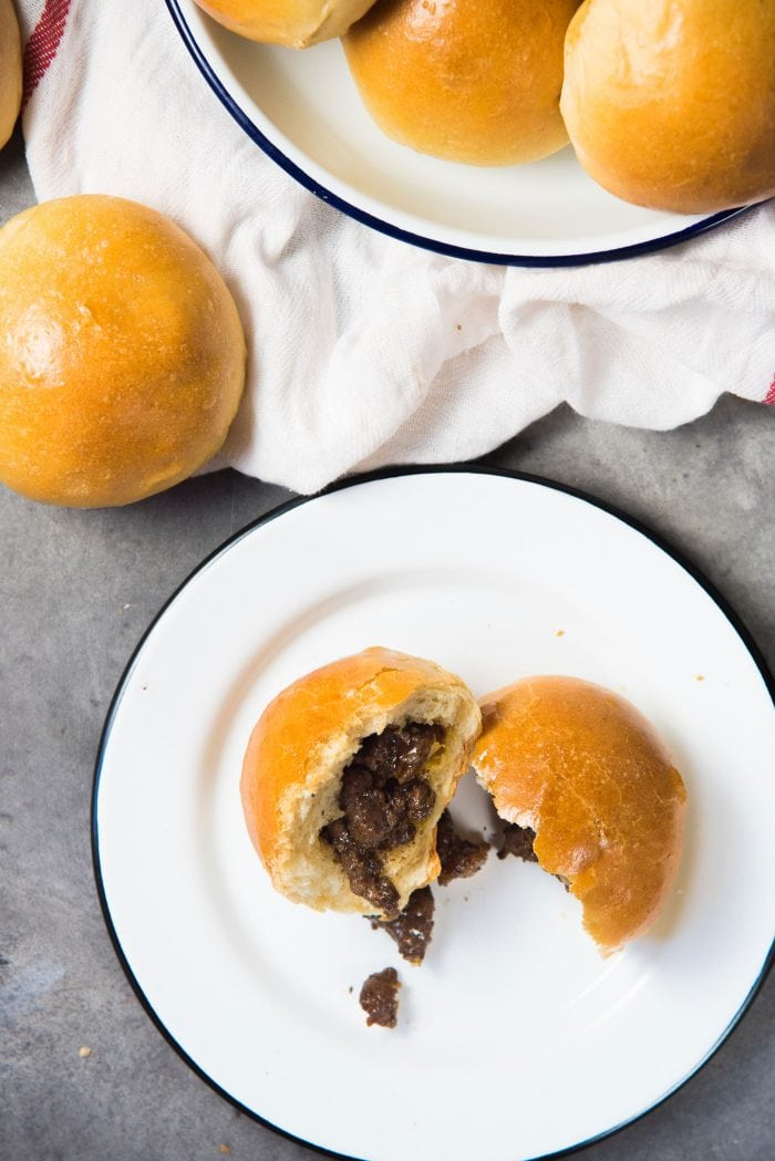 Sri Lankan Curried Beef buns - Beef stuffed buns that your family will love. Great to make ahead and travels really well.
