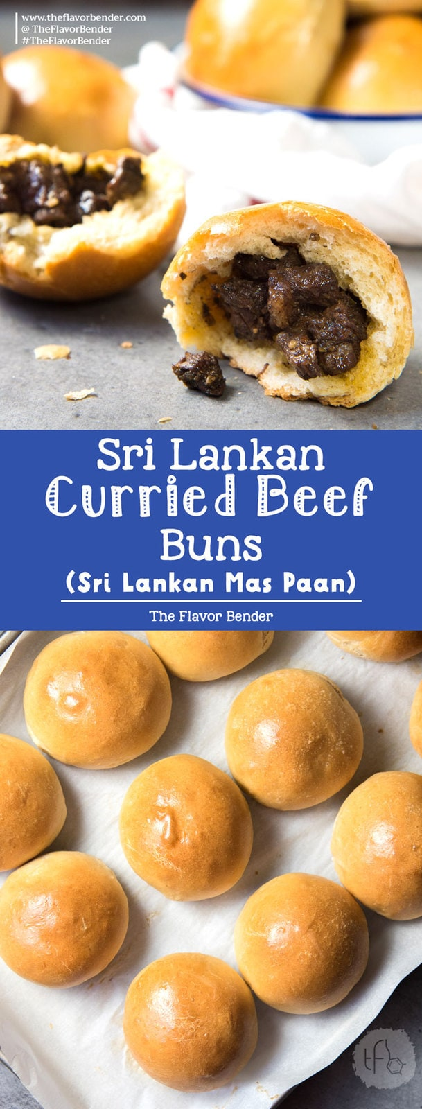 Sri Lankan Curried Beef buns - These Sri Lankan meat buns are so versatile and flavorful. Pillowy bread stuffed with curried beef. Great on the go breakfast idea, lunch or snack.