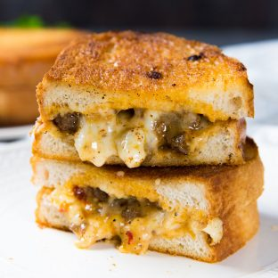Curried Beef Grilled Cheese Sandwich