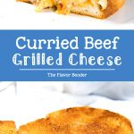 Curried Beef Grilled Cheese Sandwich - A combination of comforting curry flavors with creamy, gooey cheese! This is one epic grilled cheese sandwich! #GrilledCheeseSandwich #BeefGrilledCheese #CurryGrilledCheese #ComfortFood