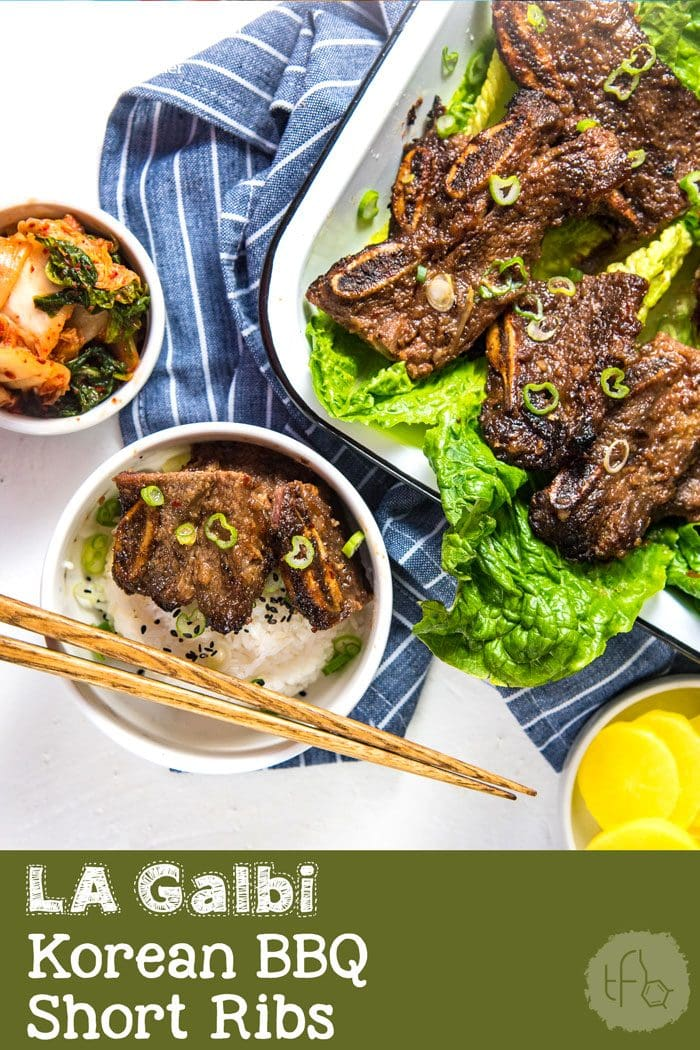 LA Galbi (Korean BBQ Short Ribs) - Sweet and savory, tender and delicious grilled beef short ribs. A Korean favorite that your family will love! Perfect for BBQs, or regular family dinners. #BBQRecipes #KoreanRecipes #BeefRibs