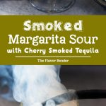 Smoked Margarita Sour - A sophisticated twist on a classic margarita, made with cherry wood smoked tequila. The cocktail foam is created with aquafaba, making this margarita sour cocktail vegetarian/ vegan too! #Margarita #SourCocktails #Smoked Cocktails