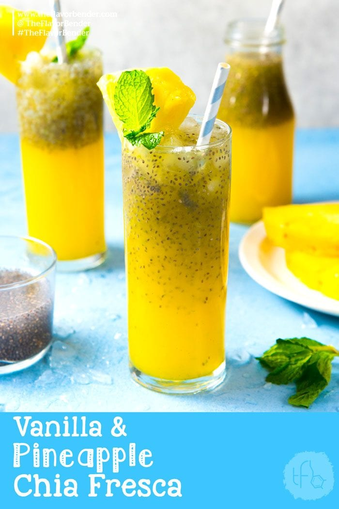 Vanilla Pineapple Chia Fresca - a fruity, refreshing, and surprisingly filling drink with the added nutritional value of chia seeds!