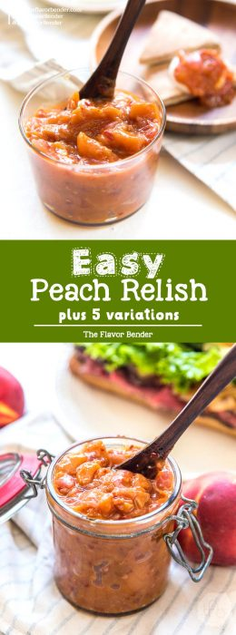 Here's a great recipe to use up those extra, or underripe, or overripe peaches this season - a Sweet and Spicy Peach Relish! So easy to make, doubles as a peach chutney, and can be customized to your taste!