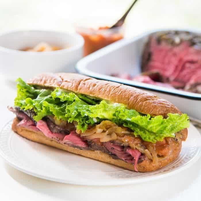 Learn how to make Perfect Steak Sandwiches! From tips on how to make perfect slow roasted beef slices to a range of different fillings to create a flavorful, hearty Steak Sandwich that is perfect for lunch (or dinner!)