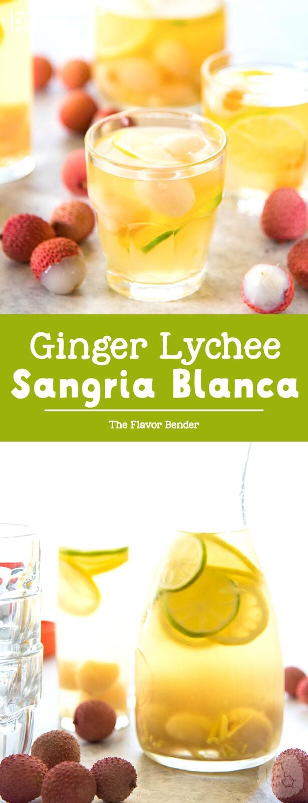 Ginger Lychee Sangria Blanca -An ice-cold, boozy Pinot grigio sangria drink with an explosion of flavors, perfect for hot summer days and evenings!