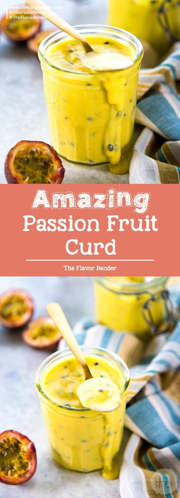 Passion Fruit Curd - A deliciously creamy and tangy passion fruit curd! A great addition to any dessert and adds a refreshing tropical flavor. Freezer friendly too.