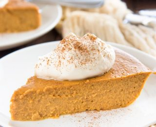 This Crustless Pumpkin Piepudding is so satisfying and silky smooth that you won't miss the crust at all! It's Gluten free and refined sugar free too.