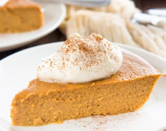 This Crustless Pumpkin Pie pudding is so satisfying and silky smooth that you won't miss the crust at all! It's Gluten free and refined sugar free too.