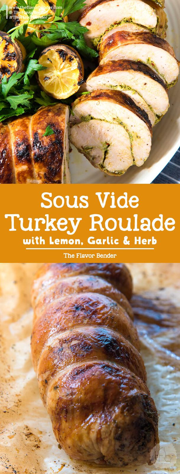 Sous Vide Turkey Roulade is cooked slow and low in the sous vide to guarantee the most perfectly tender, juicy, succulent results! Perfect for Thanksgiving and Christmas! #ThanksgivingRecipes #TurkeyRecipes #TurkeyRoast #SousVideRecipes