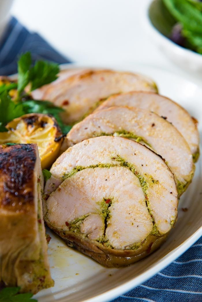 Learn how to make a Turkey Roulade - Step by step instruction on how to prepare turkey breast into a boneless roulade that is perfect for Thanksgiving!