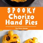 Spooky Chorizo Hand Pies - A scrumptious savory snack for your Halloween party! Easy and fun to make too. #HalloweenSnacks #HalloweenRecipes #HandPies #SnackRecipes