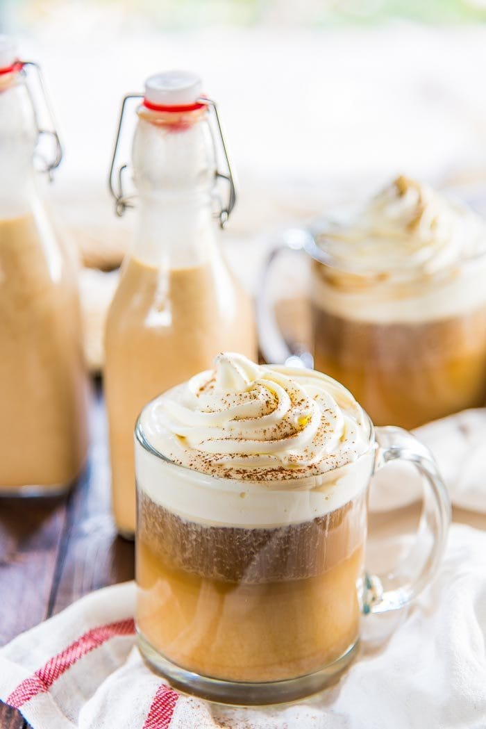 Pumpkin Spice Coffee Creamer - Homemade Pumpkin spice creamer with plenty of pumpkin flavor and spice