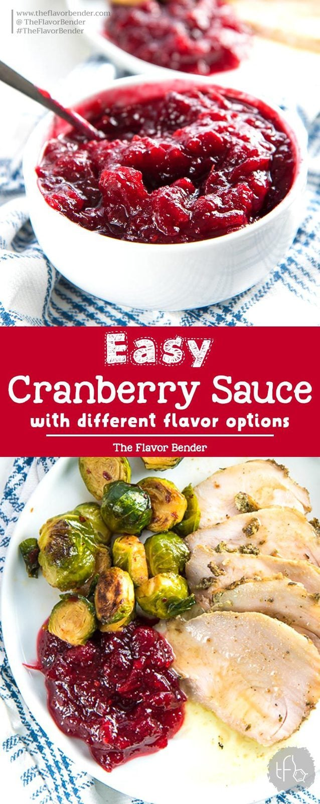 Homemade Easy Cranberry Sauce - An easy and versatile recipe to make amazing cranberry sauce for Thanksgiving! Plus, leftovers can be used in so many ways too.