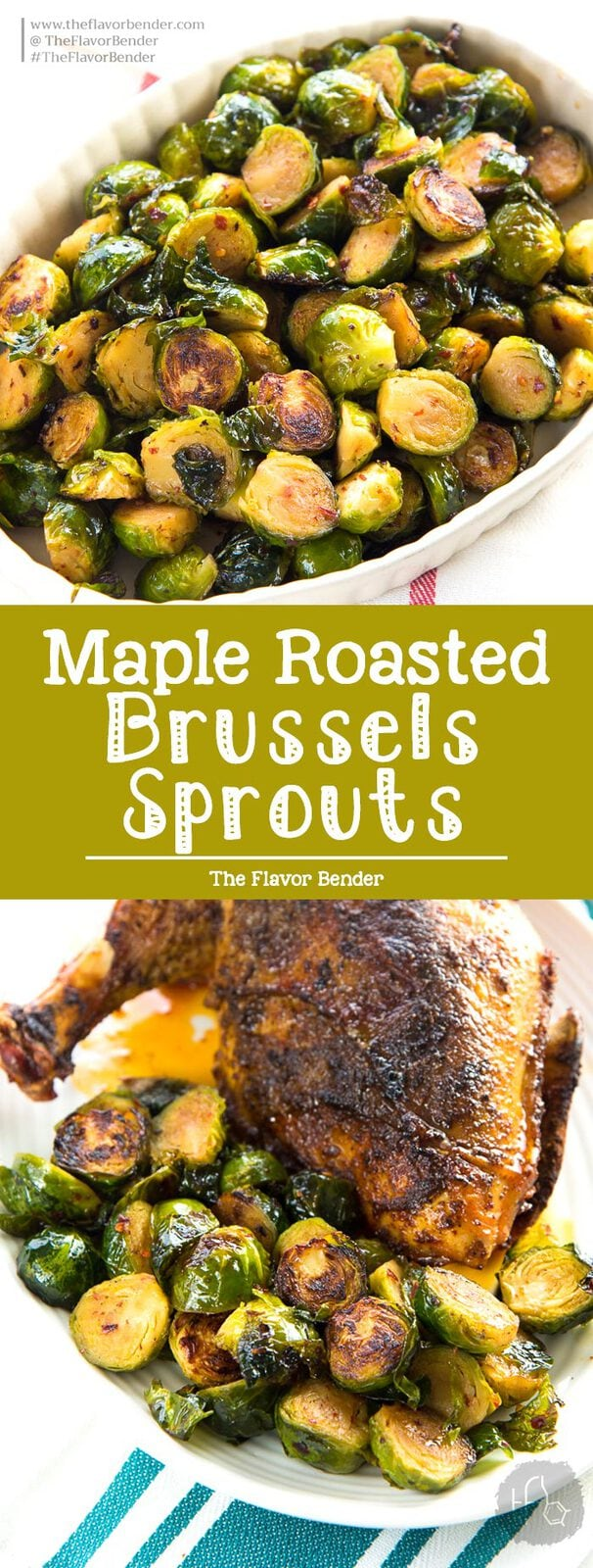 Maple Roasted Brussels Sprouts - A healthy, simple side dish for Thanksgiving, Christmas or any roast dinners. Deliciously crispy and caramelized with sweet and spicy flavors. Vegan and Paleo. #BrusselsSprouts #ThanksgivingSideDishes #HealthyRecipes #ChristmasSideDishes