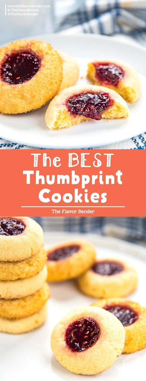 Easy Thumbprint Cookies - These cookies are a classic holiday favorite and they are so easy to make! Get step by step instructions with tips on how to make perfect thumbprint cookies. #ThumbprintCookies #HolidayCookies #ChristmasCookies #EasyCookies