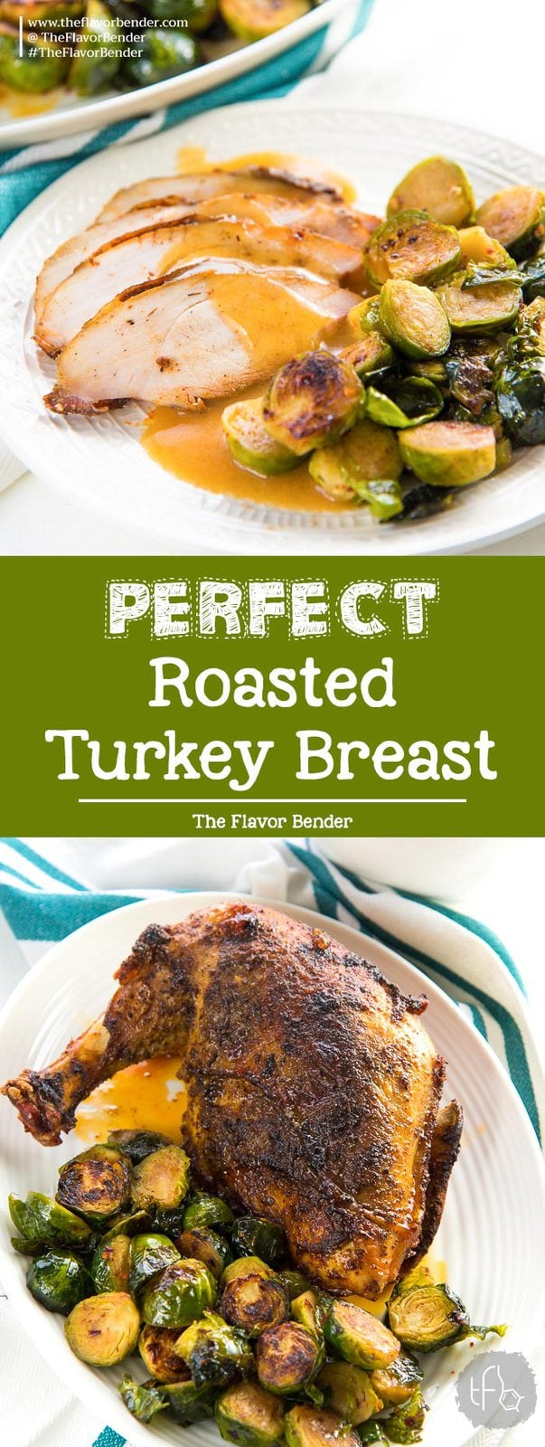 Oven Roasted Turkey Breast - Learn how to cook, perfectly cooked, tender and juicy turkey breast in the oven. Perfect for Thanksgiving or Christmas celebrations! #ThanksgivingRecipes #TurkeyRoast #TurkeyBreastRoast #SlowRoasted
