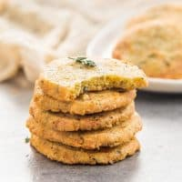 Thyme and Cheddar Cheese Cookies - These slice and bake savory cookies are easy to make and delicious! Perfect as appetizers or as snacks.