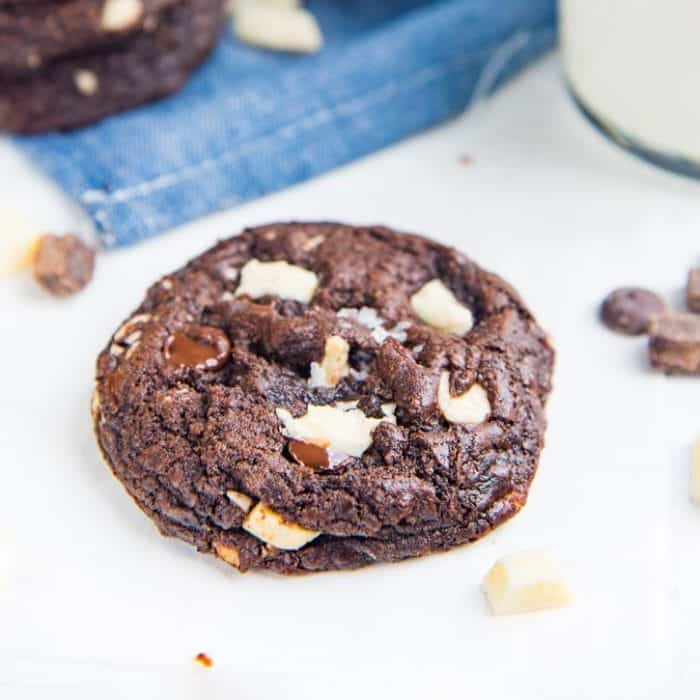 Ultimate Double Chocolate Chip Cookies (or Triple Chocolate Chip Cookies) - Soft and chewy Chocolate Chip Cookies with white or dark chocolate chips, or both! Easy to make and customize.