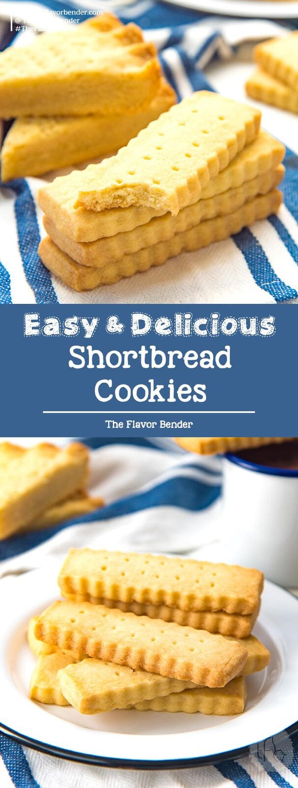 Easy Shortbread Cookies - Buttery, crumbly and light classic shortbread cookies that are easy to make with the minimal amount of ingredients you ALWAYS have in your kitchen! Make the classic version or scottish shortbread. With tips and tricks to make these cookies easily for any occasion! #ShortbreadCookies #EasyCookies #HolidayCookies #ButterCookies #CookieGuide