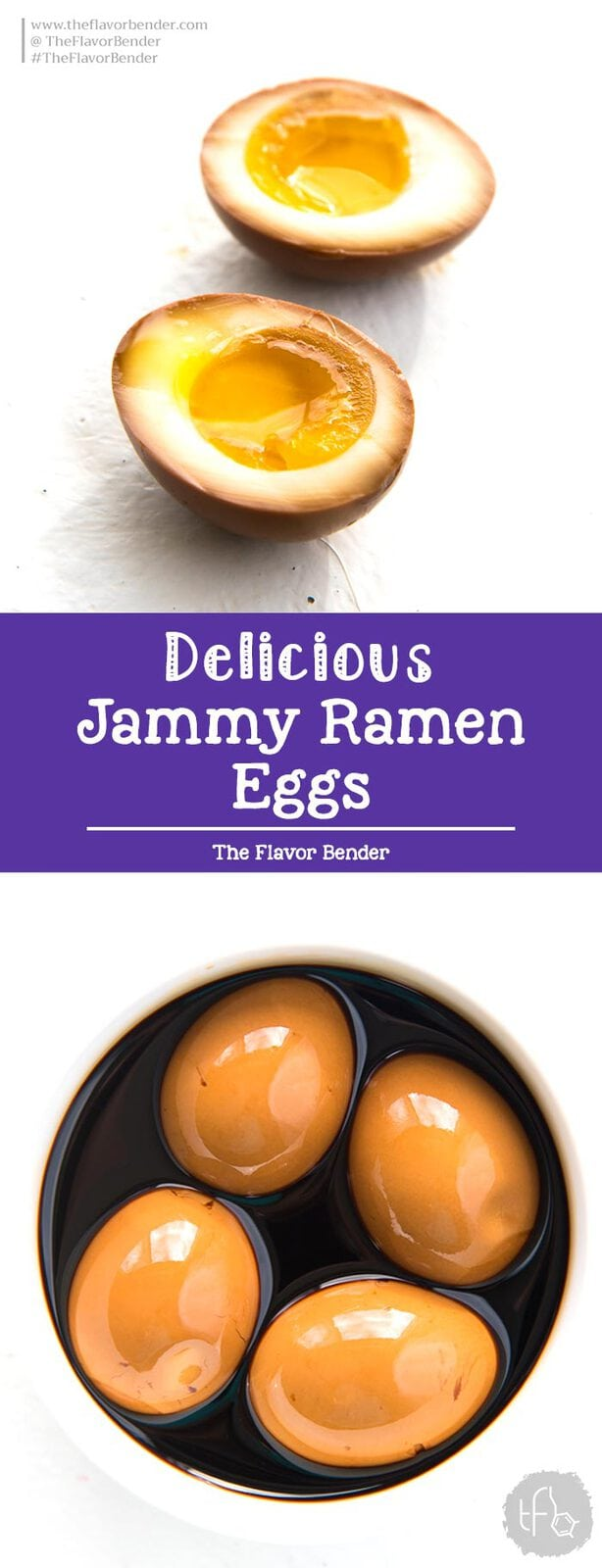 Jammy Ramen Eggs (Ajitsuke Tamago) - These are sweet, salty and rich with plenty of umami flavor. Plus they are super easy to make and an essential part of an authentic Ramen bowl. #RamenEggs #Ramen #SoftboiledEggs #PickledEggs #Snacks