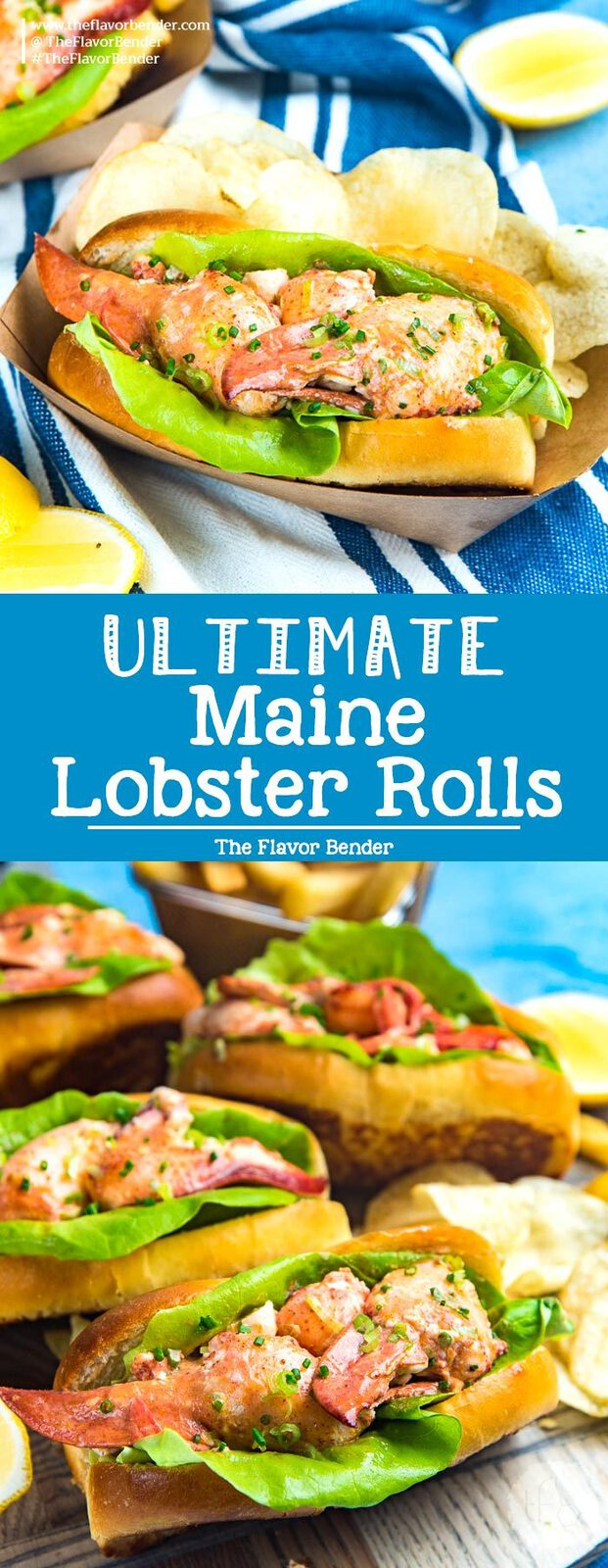 All you need to know about making and serving the ULTIMATE Maine Lobster Rolls in one post. A flavorful Lobster salad roll made with buttery lobster and homemade lobster roll buns. #LobsterRolls #MaineLobsterRoll #LobsterRecipes