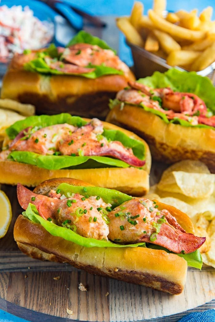 Maine Lobster Rolls The Flavor Bender