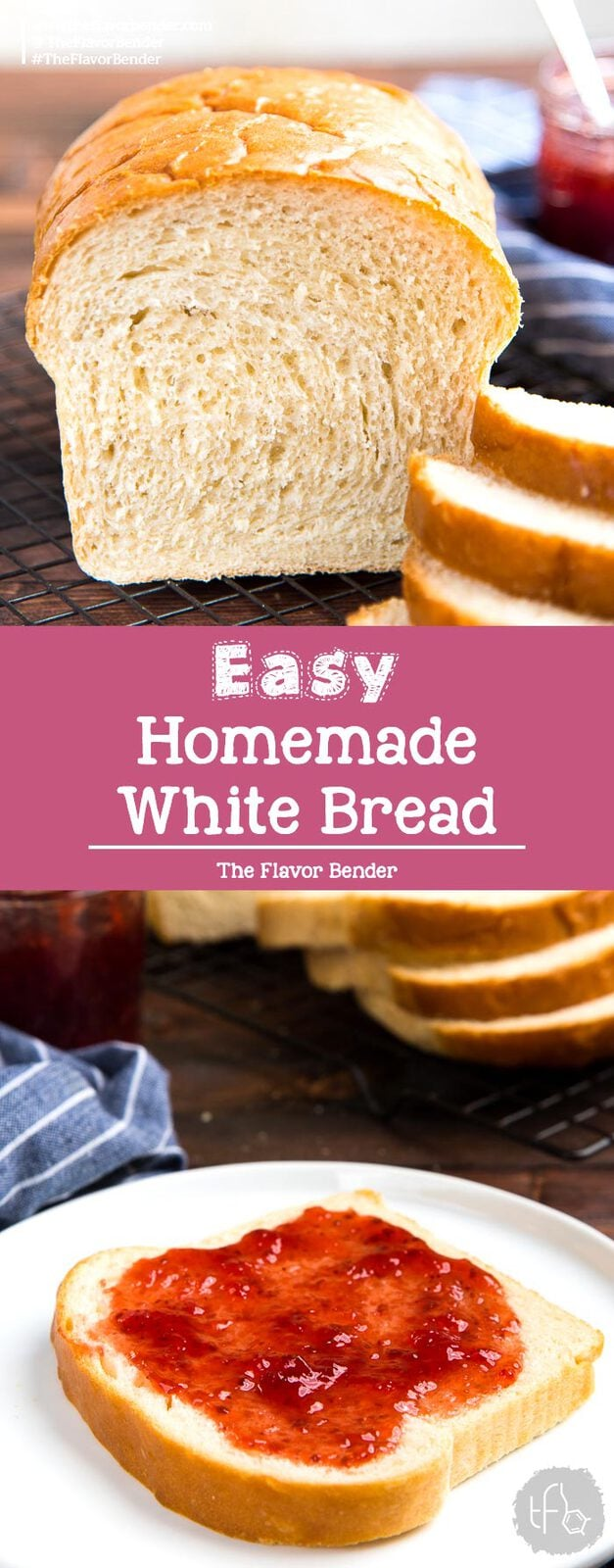 How to make the best Homemade White Bread that is soft and delicious. An easy to follow recipe for perfect homemade bread with step by step instructions.#HomemadeBreadLoaf #WhiteBread #SandwichBread