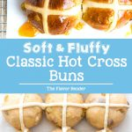 The best classic spiced hot cross buns recipe with step by step instructions, and is easy to follow. Soft and fluffy and incredibly delicious.  #ClassicHotCrossBuns #EasterRecipes #EasterBread #SweetBread