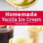 Vanilla Ice Cream Pinterest Image