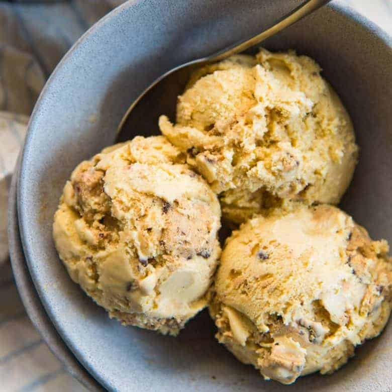 Salted Butterscotch Cookie dough ice cream recipe Social media