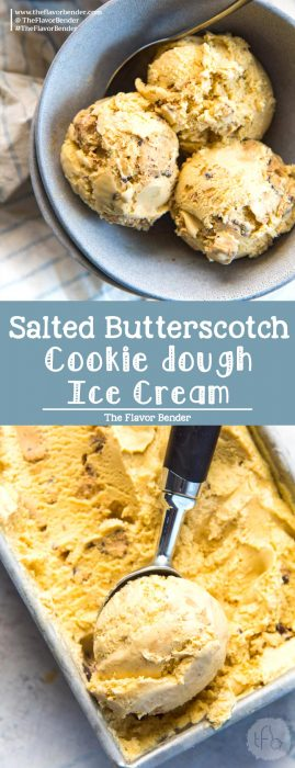 Salted Butterscotch Cookie Dough Ice cream Pin
