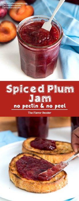 Spiced plum jam Pin