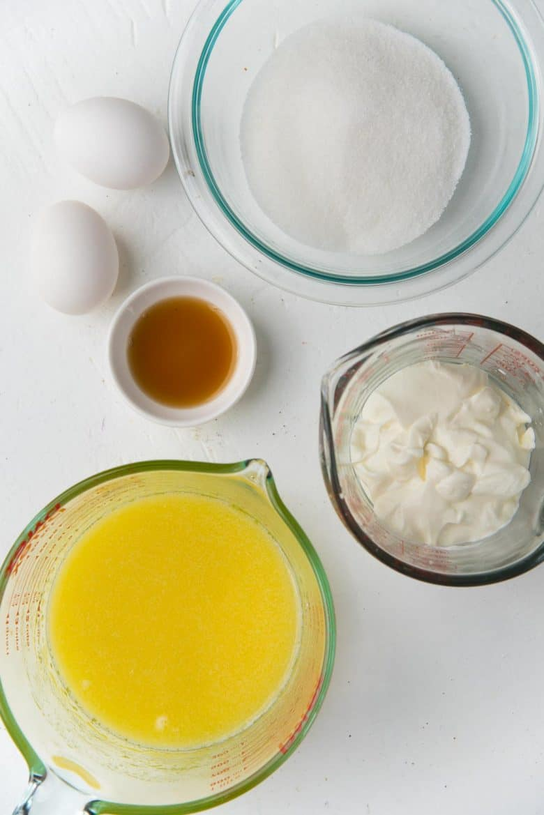 Wet ingredients for making basic muffins