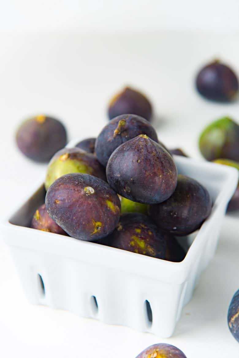 Fresh Figs in a white container