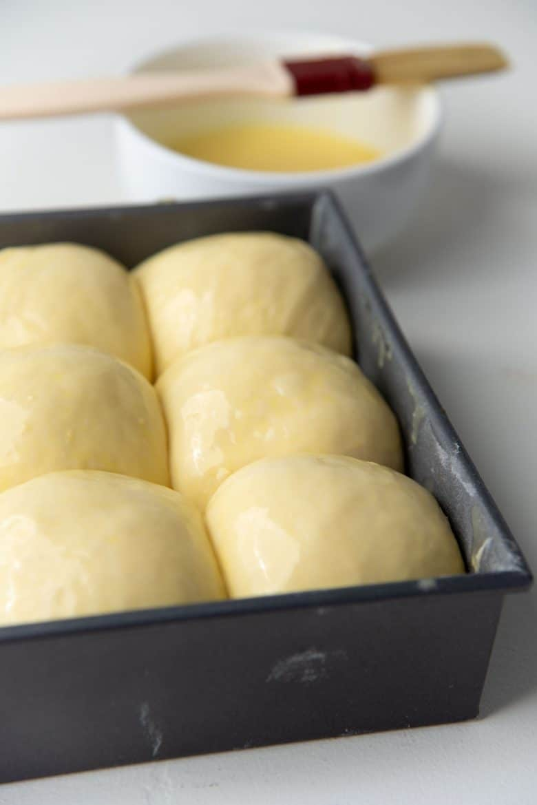 Glazed milk bread dinner rolls