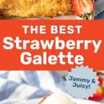 This extra jammy, juicy, sweet and delicious strawberry galette, is the perfect treat! Easy to make and made with a flaky buttery crust. #TheFlavorBender #Galette #StrawberryRecipes #StrawberryPie #FruitTarts