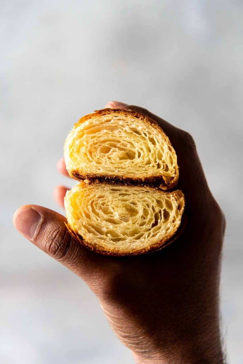 A view of the croissant cross section