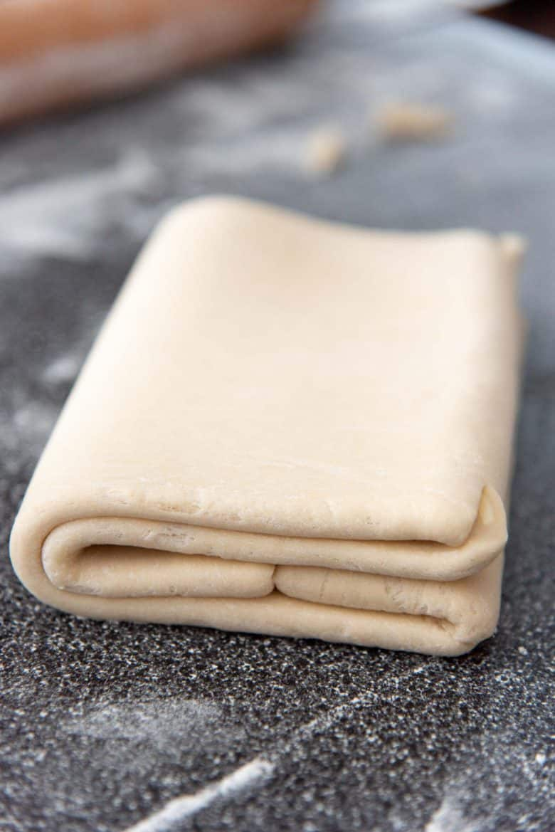 The double fold for croissant dough