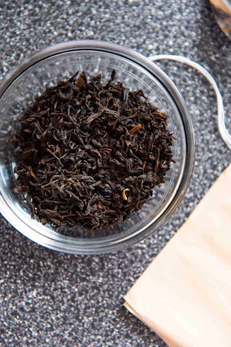 Black Tea in a bowl, ready to be brewed