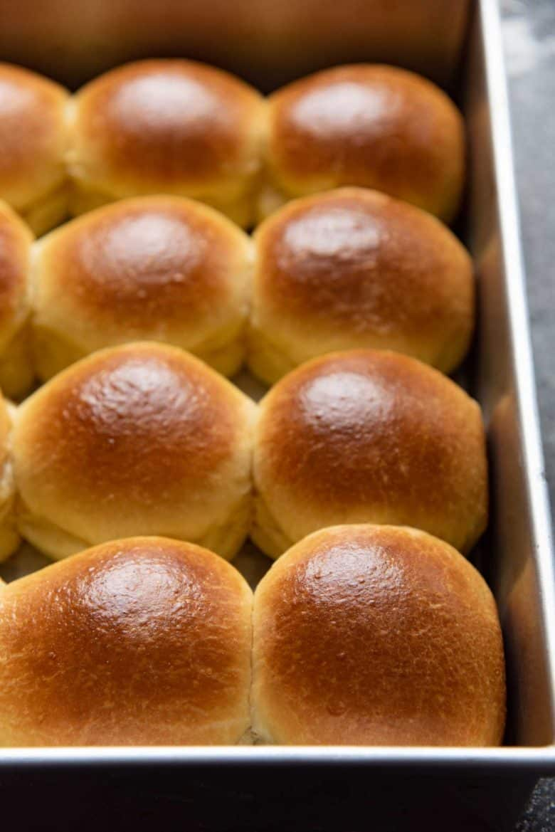 Freshly baked brioche slider buns