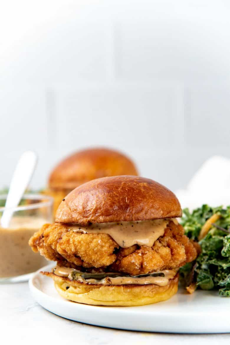 Chicken Sandwich made with brioche buns