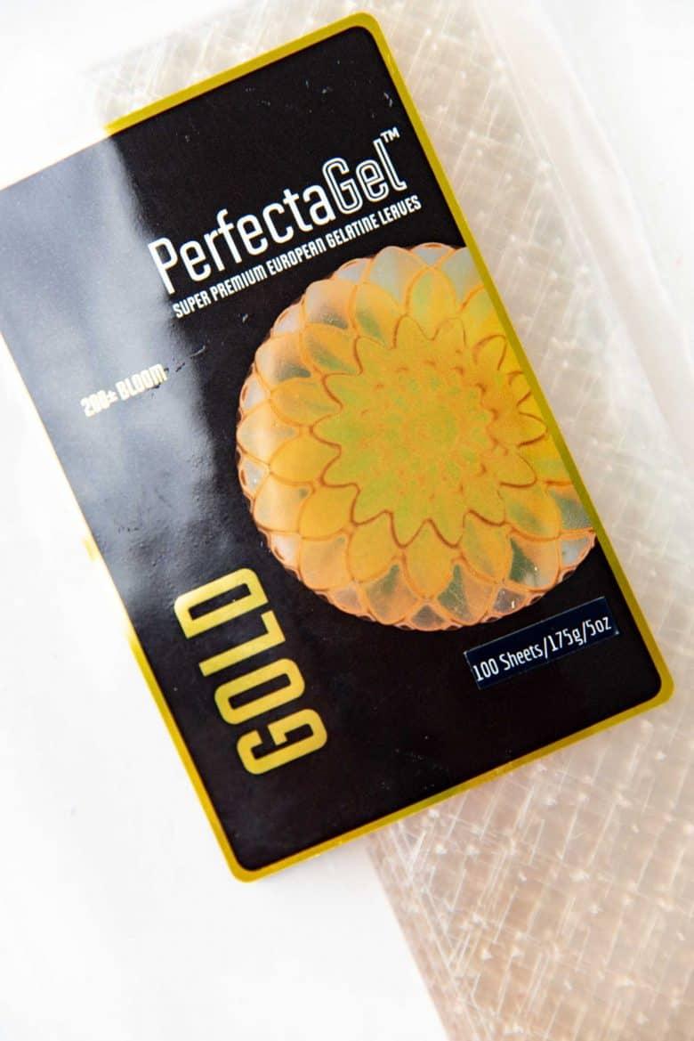 Gold leaf gelatin