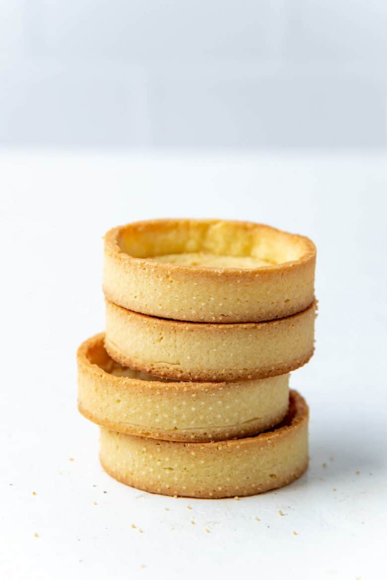 Four stacked mini tart shells