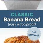 Banana bread pin image