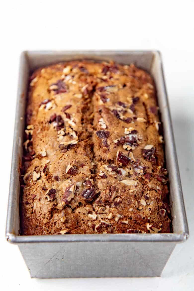 Freshly bakes with nuts on top