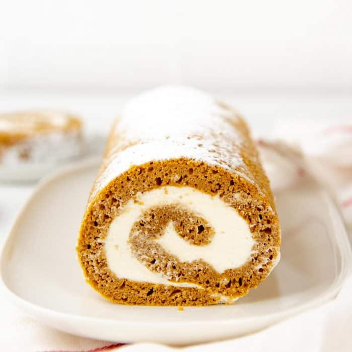 Pumpkin swiss roll Social media