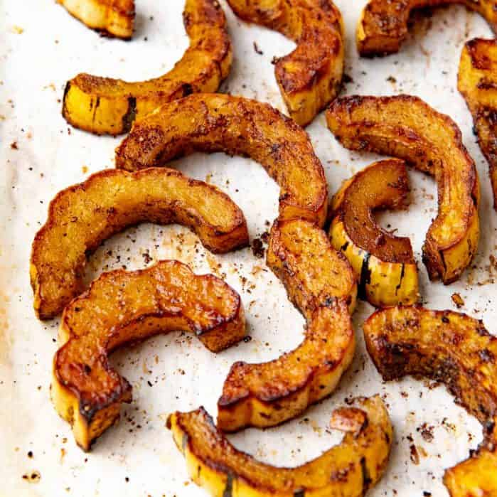 Roasted delicata squash social media