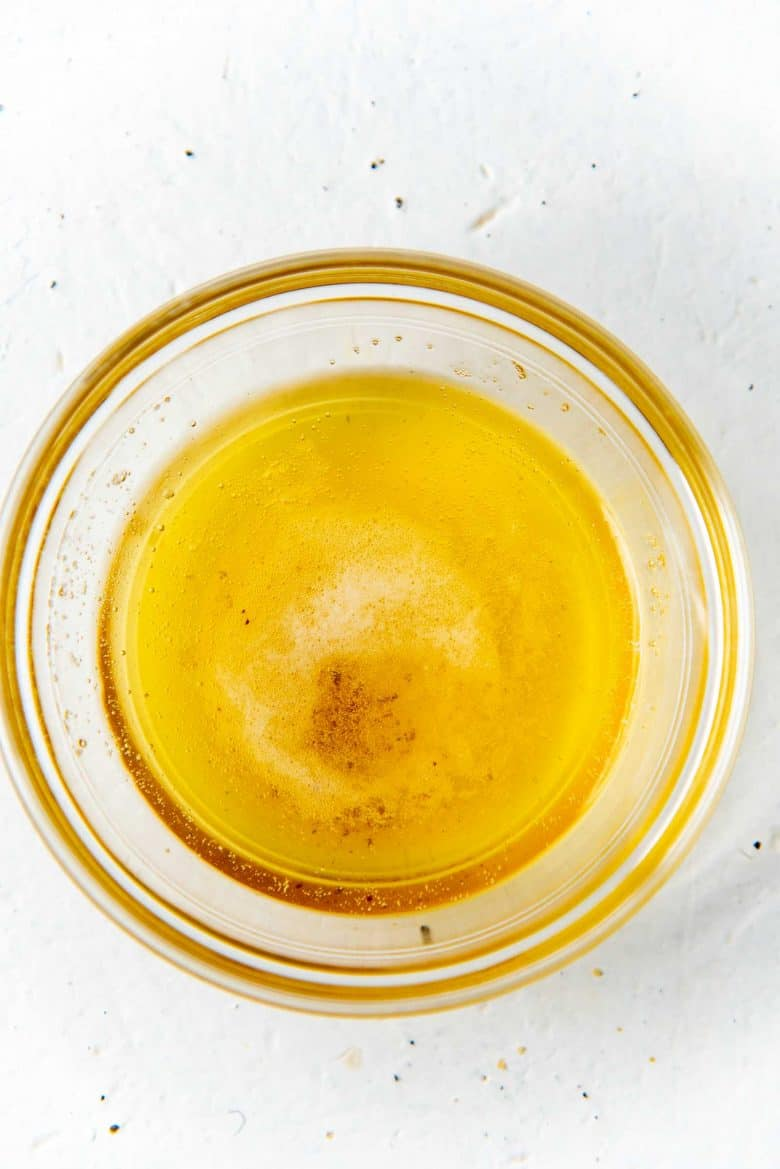 Clarified butter in a bowl