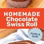 Chocolate swiss roll social media